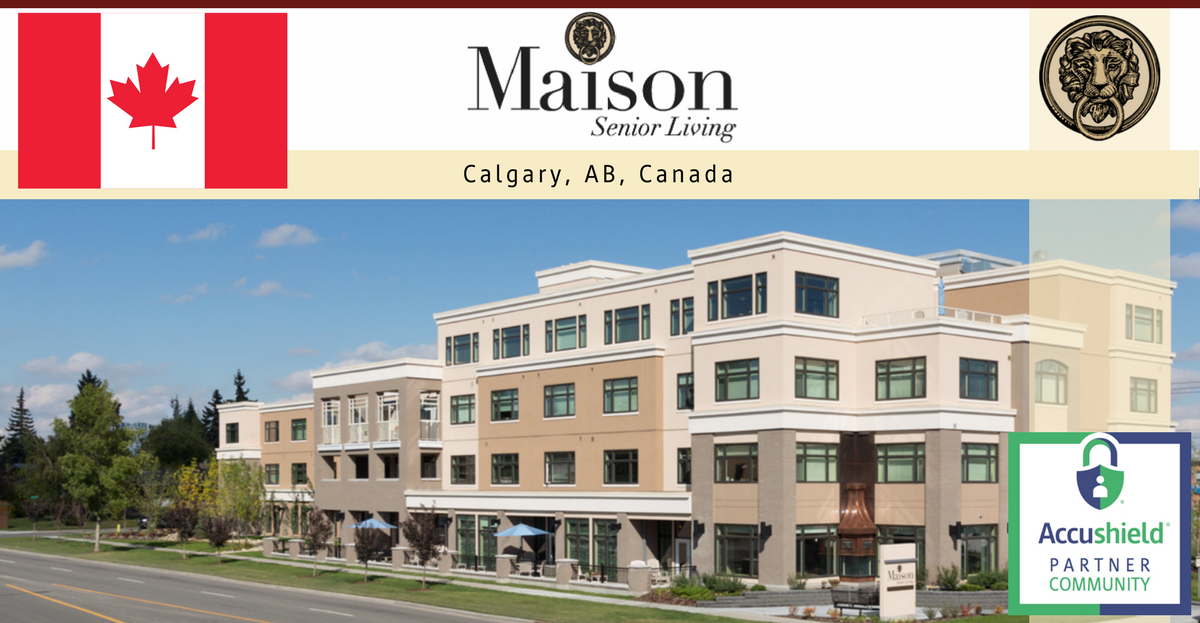 Accushield installation day maison senior living calgary ab canada accushield - Maison jardin assisted living avignon ...