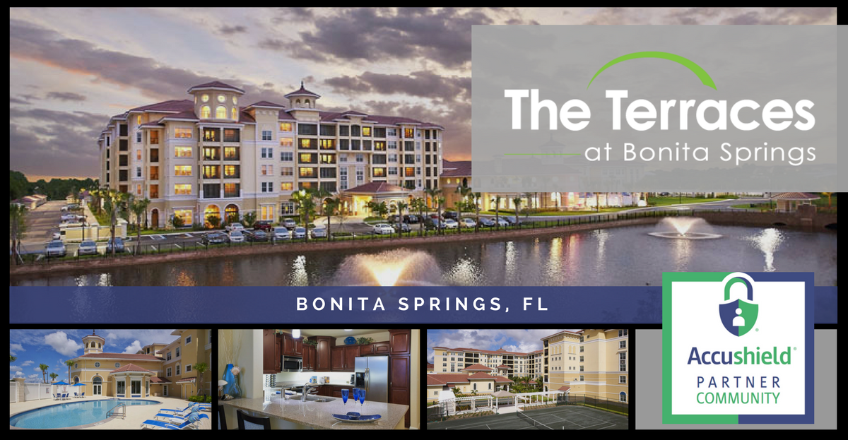 Accushield secured the terraces at bonita springs for The terraces senior living